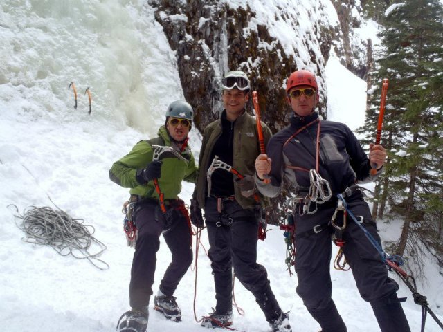 Ice Climbing Hyalite Canyon, near Bozeman, MT